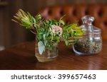 bank of tea and flowers | Shutterstock . vector #399657463