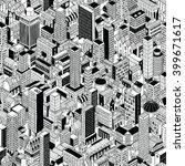 generic city seamless pattern... | Shutterstock .eps vector #399671617