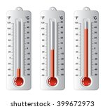 vector set of thermometers at... | Shutterstock .eps vector #399672973