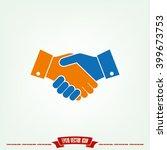 handshake icon vector... | Shutterstock .eps vector #399673753