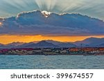 Sunset Over Sinai Mountains In...