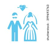 wedding. bride and groom icon.... | Shutterstock .eps vector #399693763