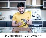 attractive caucasian man... | Shutterstock . vector #399694147