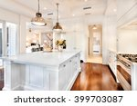 beautiful kitchen having... | Shutterstock . vector #399703087
