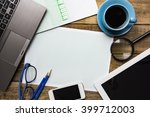 business planning on the wood... | Shutterstock . vector #399712003