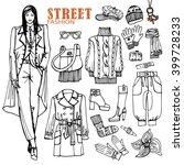 fashion illustration.beautiful... | Shutterstock . vector #399728233