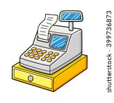 cash register with a receipt... | Shutterstock .eps vector #399736873