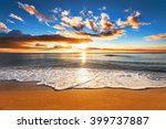 beautiful tropical sunrise on... | Shutterstock . vector #399737887