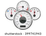 dashboard with gauge.... | Shutterstock .eps vector #399741943