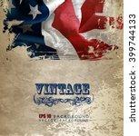 grunge american flag | Shutterstock .eps vector #399744133