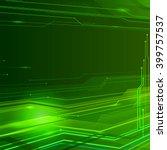 green technology background... | Shutterstock . vector #399757537
