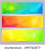 a set of  banners with... | Shutterstock . vector #399762877