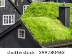 turf roofed houses  faroe... | Shutterstock . vector #399780463