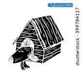 dog icon   vector illustration. | Shutterstock .eps vector #399784117