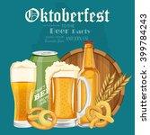 beer poster. beer mugs with... | Shutterstock .eps vector #399784243