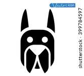 dog icon   vector illustration. | Shutterstock .eps vector #399784597
