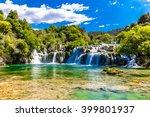 beautiful skradinski buk... | Shutterstock . vector #399801937
