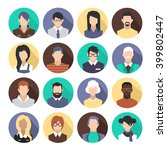 set of colorful icons. people.... | Shutterstock .eps vector #399802447
