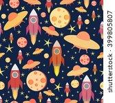 cosmic seamless pattern. | Shutterstock .eps vector #399805807