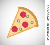pizza icon design  vector... | Shutterstock .eps vector #399809773
