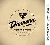 vector flat jewelry logo... | Shutterstock .eps vector #399819073