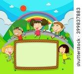 frame design with children in