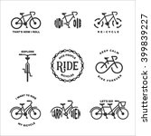 bicycle related typography set. ... | Shutterstock .eps vector #399839227