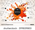 3d abstract background with... | Shutterstock .eps vector #399839803