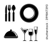 cutlery and restaurant icon... | Shutterstock .eps vector #399847393