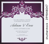 wedding invitation or card with ... | Shutterstock .eps vector #399848047