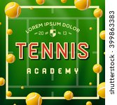 tennis academy design over... | Shutterstock .eps vector #399863383