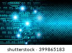 blue abstract hi speed internet ... | Shutterstock . vector #399865183