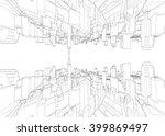 cityscape vector sketch....   Shutterstock .eps vector #399869497