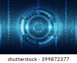 abstract security digital... | Shutterstock .eps vector #399872377