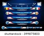 info graphic statistics   soccer | Shutterstock .eps vector #399875803