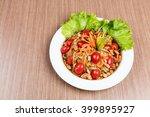 papaya salad laos | Shutterstock . vector #399895927