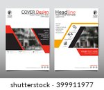 red annual report brochure... | Shutterstock .eps vector #399911977