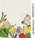 green vegetables   Shutterstock .eps vector #399932917
