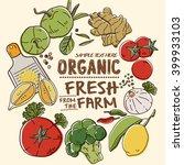 fresh organic farm vegetables | Shutterstock .eps vector #399933103