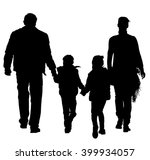 happy young family holding... | Shutterstock .eps vector #399934057
