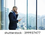 young lawyer with serious face... | Shutterstock . vector #399937477