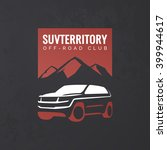 crossover suv car logo on... | Shutterstock .eps vector #399944617