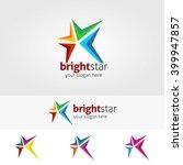 abstract star logo template ...   Shutterstock .eps vector #399947857