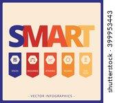 smart goals concept | Shutterstock .eps vector #399953443