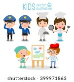 set of cute professions for... | Shutterstock .eps vector #399971863