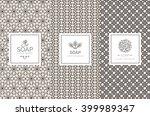 vector set of design elements... | Shutterstock .eps vector #399989347