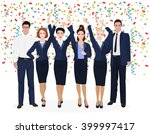 corporate business team... | Shutterstock .eps vector #399997417
