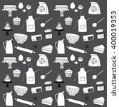 baking doodle icon background... | Shutterstock .eps vector #400019353