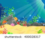 illustration of underwater... | Shutterstock . vector #400028317