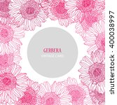 Elegant Card With Pink Gerbera...
